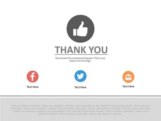 Thank You Slide For Social Media Applications Powerpoint