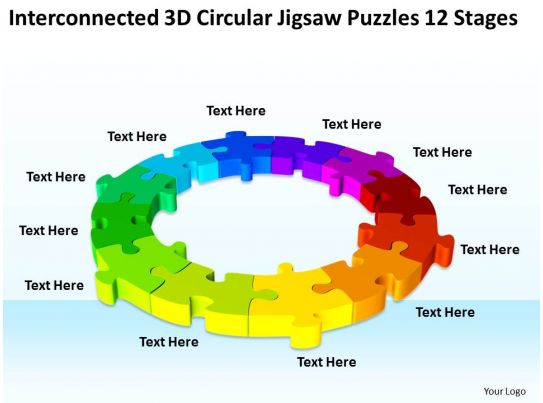 net diagrams of 3d shapes 2002 ford f150 xlt stereo wiring diagram work flow business process circular jigsaw puzzles 12 stages powerpoint templates ...