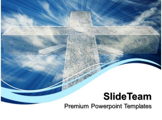 Worship Jesus Powerpoint Templates Mystic Cross Religion Editable Ppt Presentation