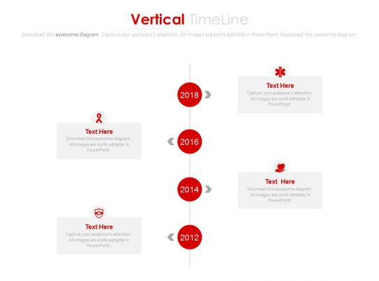 Year Based Vertical Timeline With Company Profile