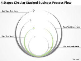 Business Organizational Chart Template Stacked Process
