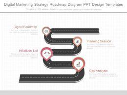 'Digital Roadmap' powerpoint templates ppt slides images