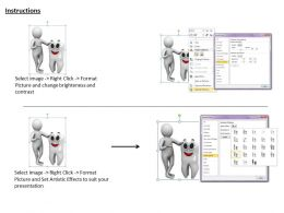 1013 3d Man With Tooth Ppt Graphics Icons Powerpoint