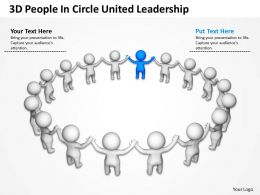 3D People In Circle United Leadership Ppt Graphic Icon
