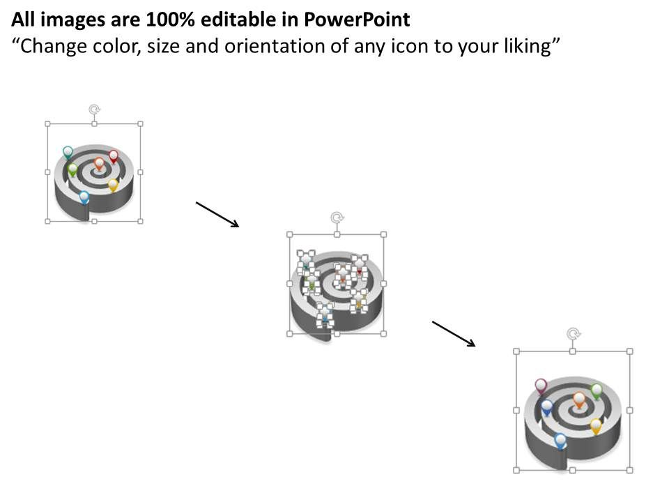 0115 Maze Graphic With Pointers Infographics Powerpoint