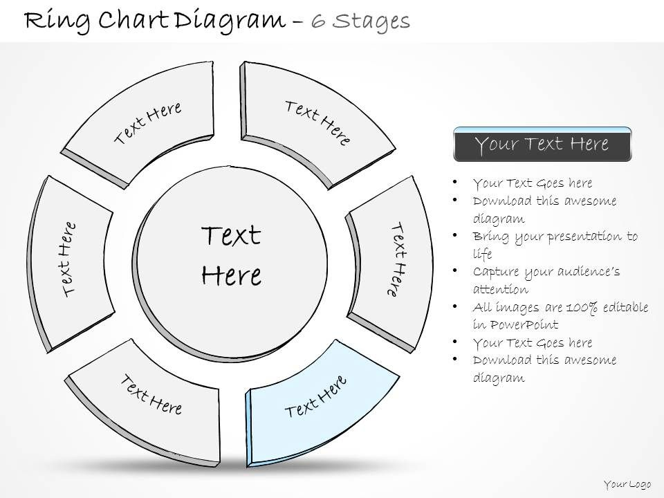 0314 Business Ppt diagram 6 Staged Ring Chart Diagram