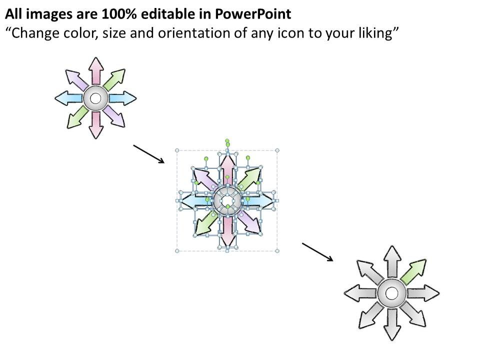 0414 Consulting Diagram 8 Diverging Factors Arrow