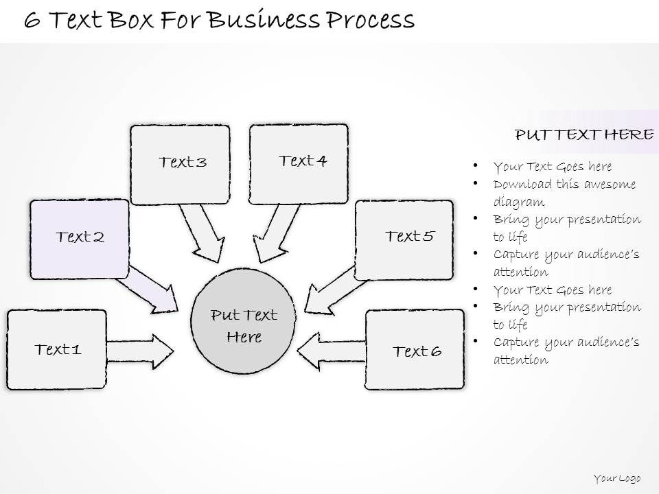 0714 Business Ppt Diagram 6 Text Box For Business Process