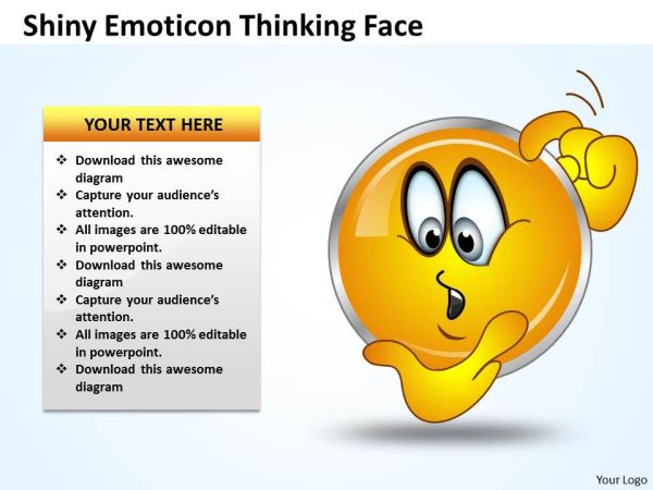 Business PowerPoint Templates shiney emoticon thinking