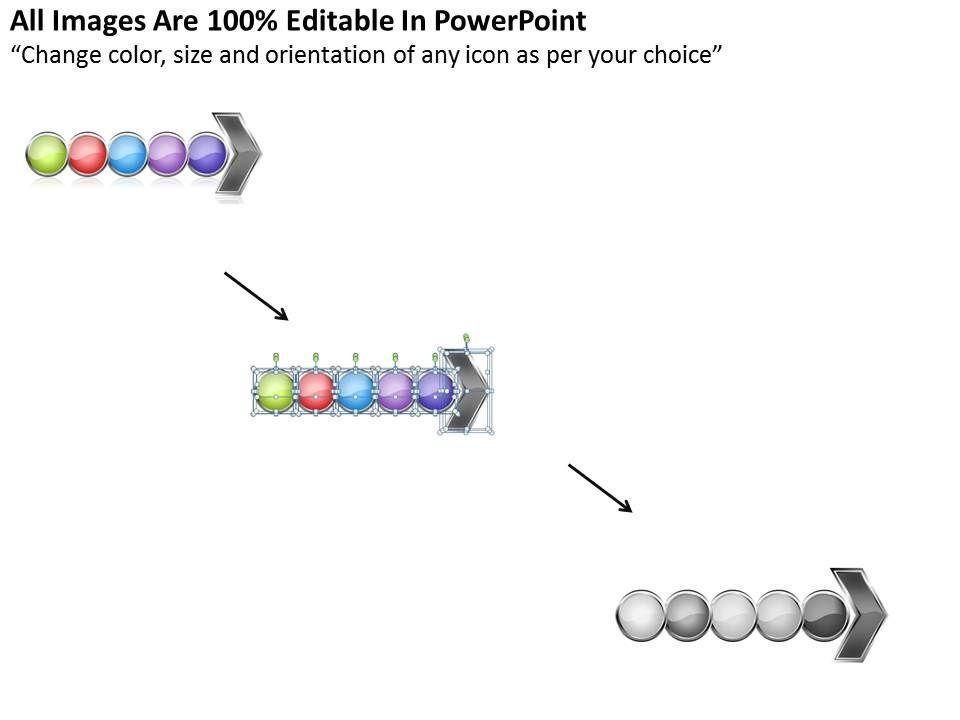 Business PowerPoint Templates work flow linear arrow