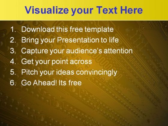Electronic Circuit Powerpoint Template Free