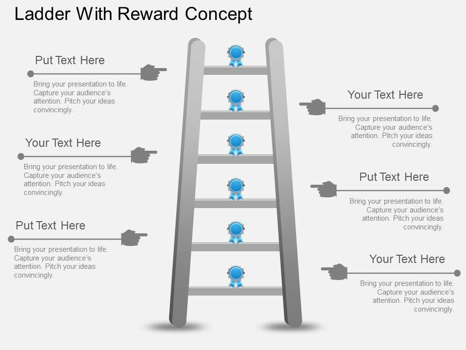 Fk Ladder With Reward Concept Powerpoint Template