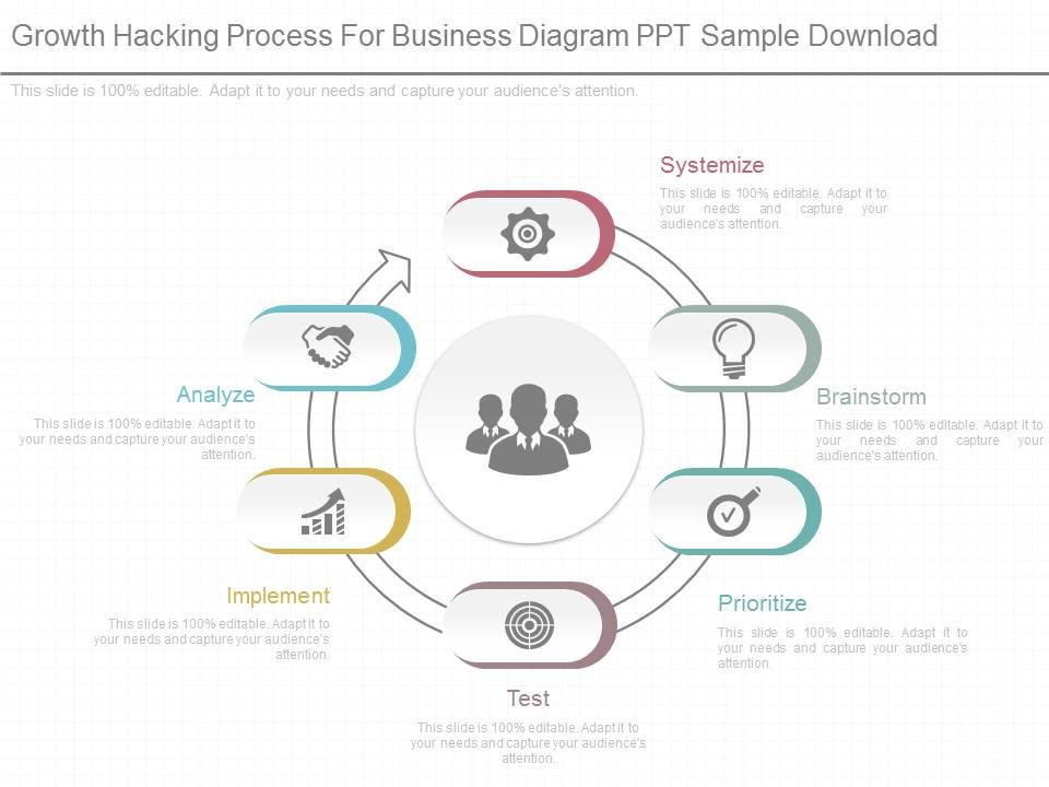 Innovative Growth Hacking Process For Business Diagram Ppt