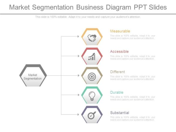 market segmentation business diagram