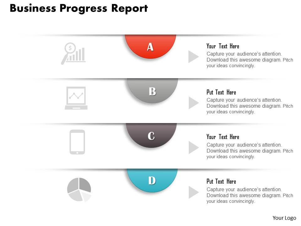 progress powerpoint diagram