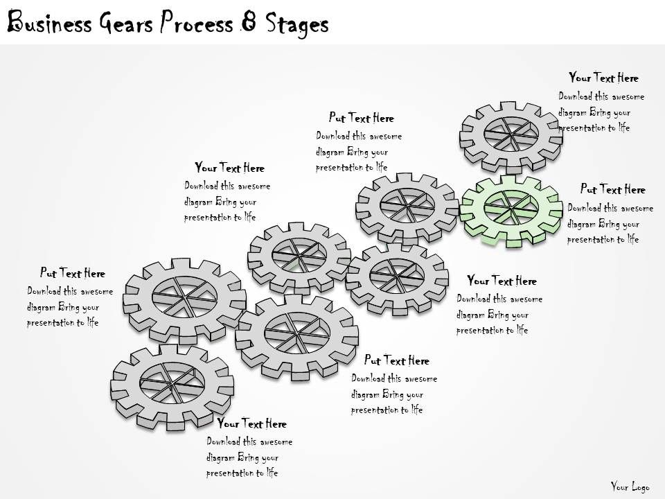 1113 Business Ppt Diagram Business Gears Process 8 Stages