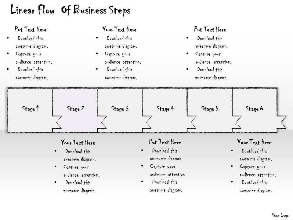 2102 Business Ppt Diagram Linear Flow Of Business Steps