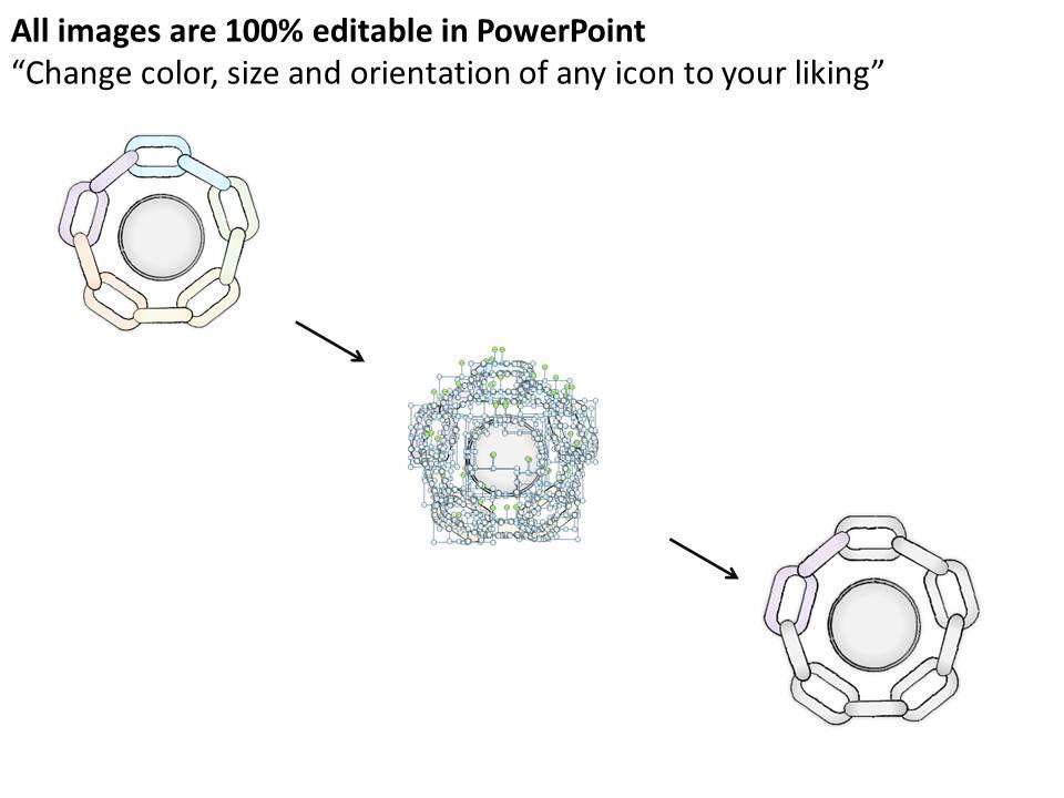 2502 Business Ppt Diagram Circular Chain Flowchart Of