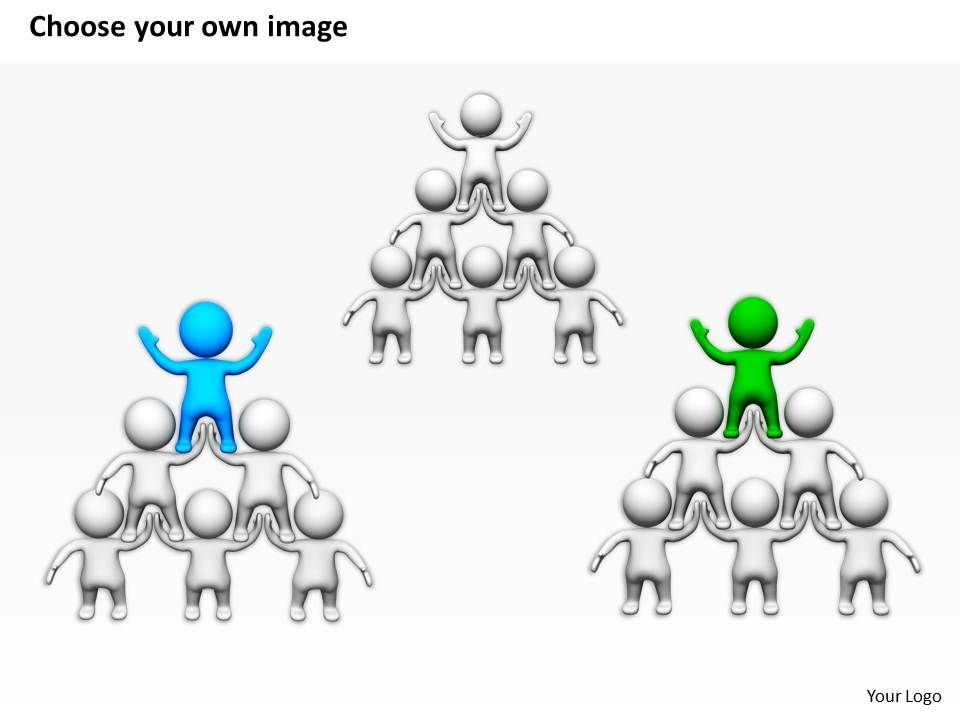 3D Men In Pyramid Leadership Ppt Graphics Icons Powerpoint