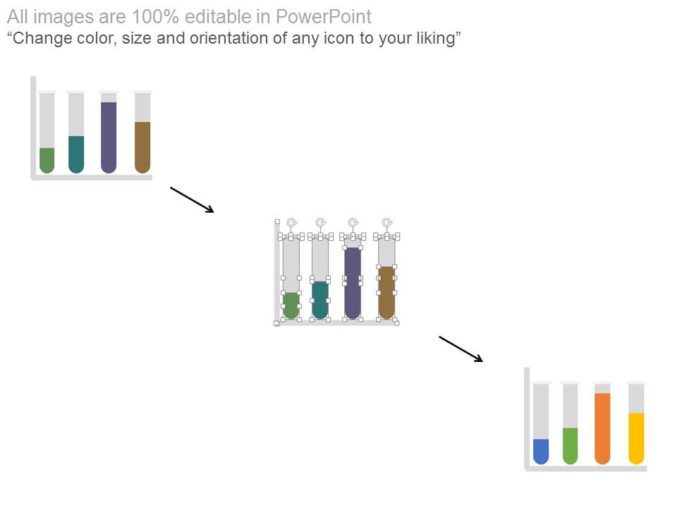 Bar Graph For Social Media Users With Test Tubes