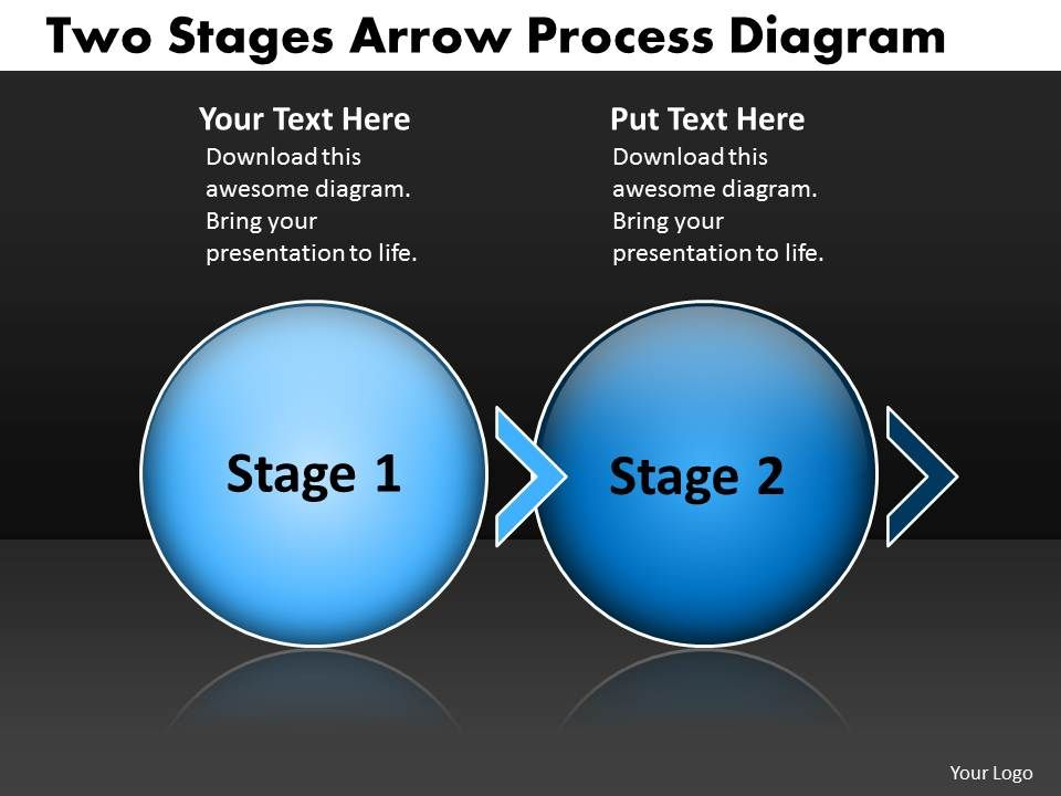 swim lane diagram in ppt 2 lights one switch wiring uk two stages arrow process powerpoint template business templates slide01