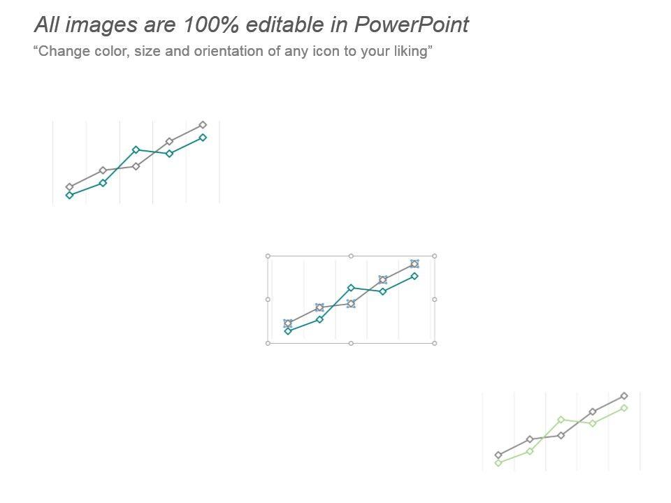 Product Revenue Comparison Line Graph Ppt Template