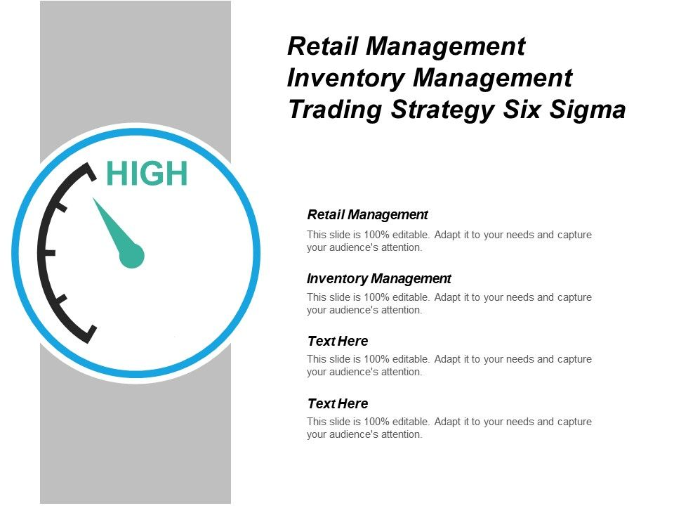 Retail Management Inventory Management Trading Strategy
