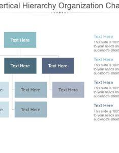 Vertical hierarchy organization chart ppt design slide slide also powerpoint rh slideteam