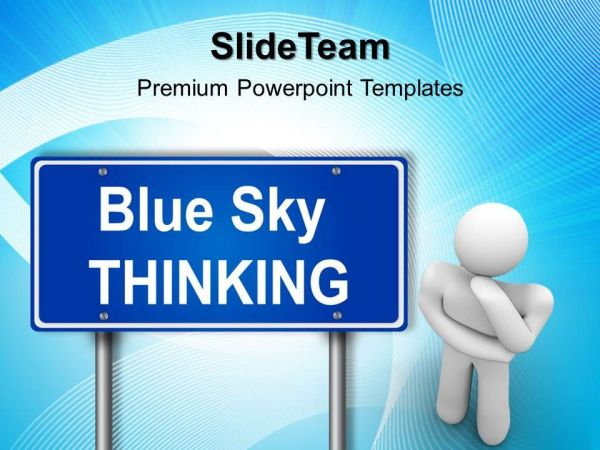 Business Strategy And Policy Powerpoint Templates Blue Sky