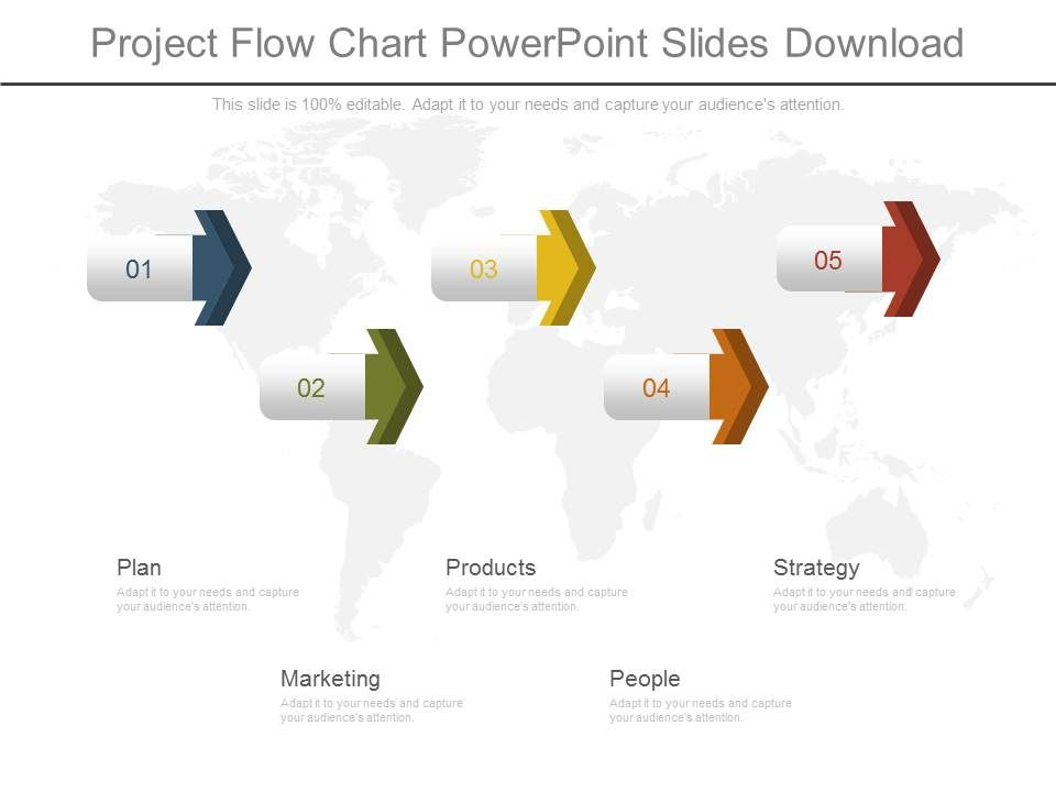 Project Flow Chart Powerpoint Slides Download