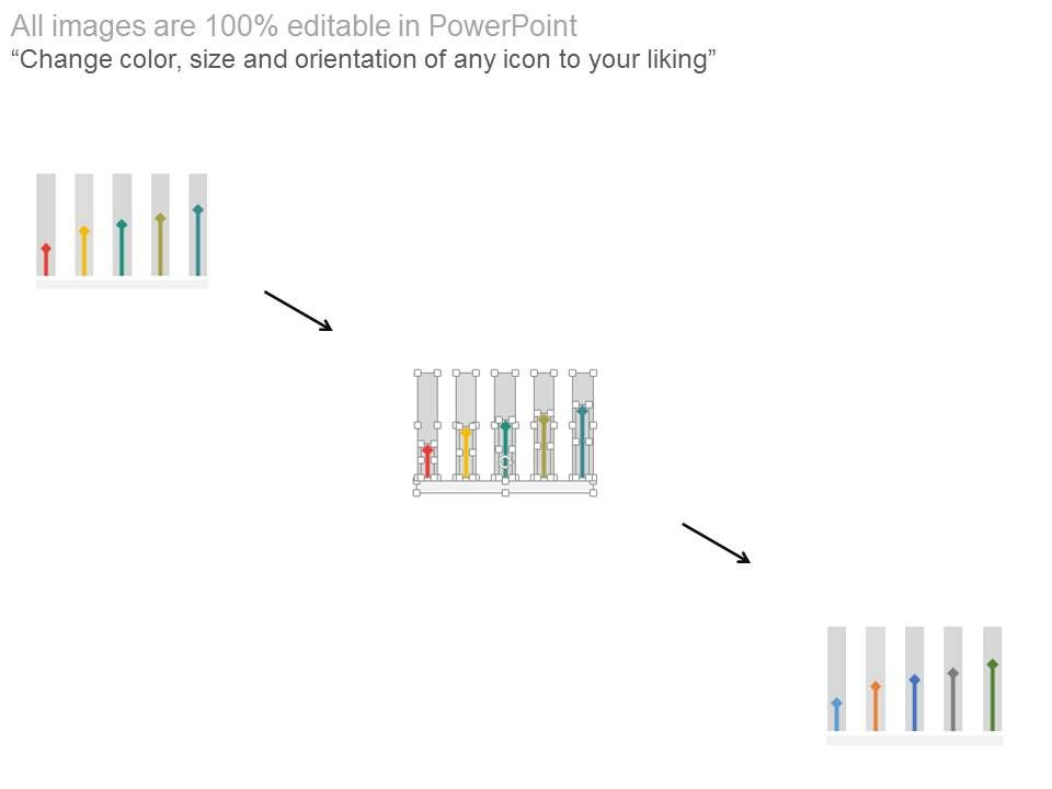 Vertical Bar Graph Timeline With Years Powerpoint Slides
