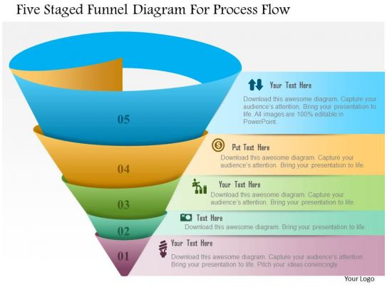 19391633 Style Layered Funnel 5 Piece Powerpoint