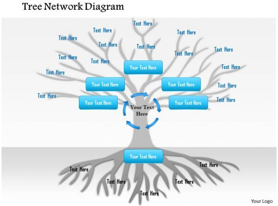 1114 Tree Network Diagram Powerpoint Presentation Slide02
