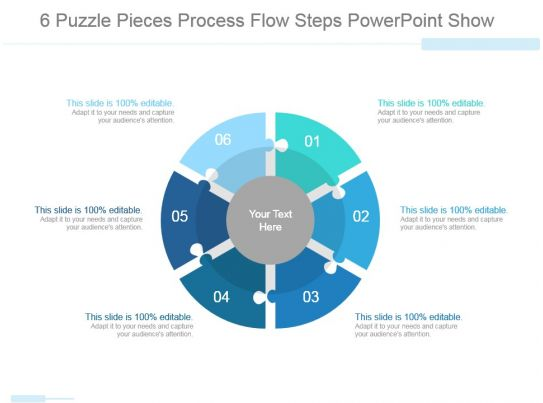 43532941 Style Puzzles Circular 6 Piece Powerpoint