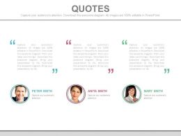 Customer Quotes and Testimonial Slides