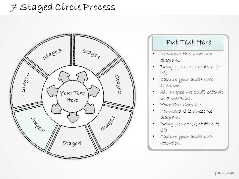 60375381 Style Circular Loop 7 Piece Powerpoint