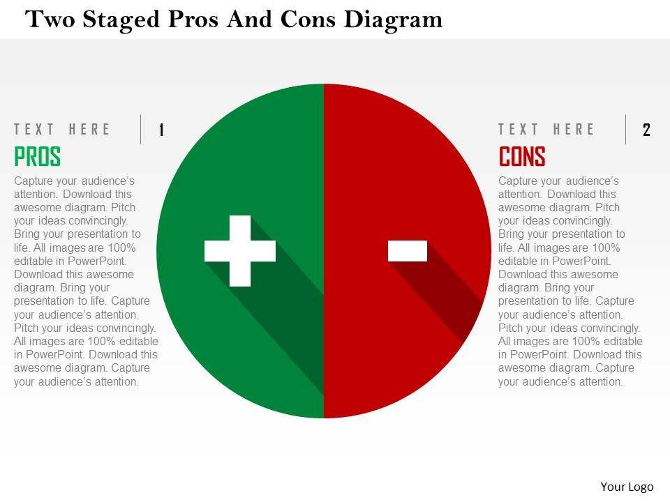 How To Create Pros And Cons Diagram In Powerpoint Diagram Series