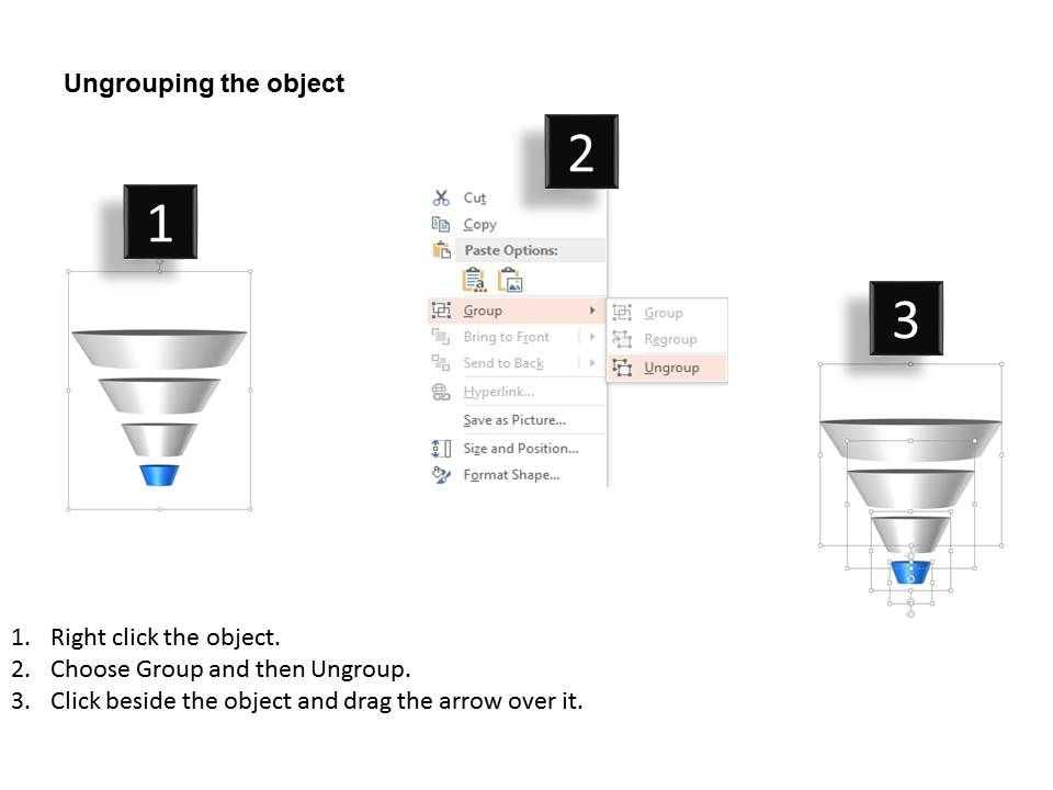 69354717 Style Layered Funnel 4 Piece Powerpoint