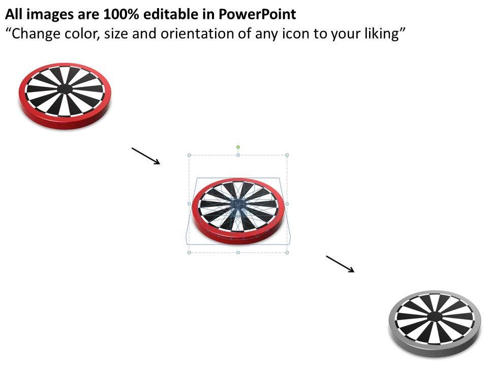 75640705 Style Circular Bulls-Eye 1 Piece Powerpoint