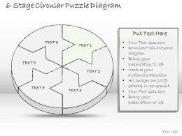 0714 Business Ppt Diagram 6 Stage Circular Puzzle Diagram