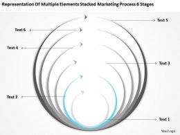 Business Process Flowchart Elements Stacked Marketing 6