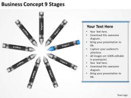 Sample Business Process Flow Diagram Concept 9 Stages