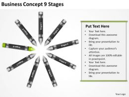 Sample Business Process Flow Diagram Concept 9 Stages
