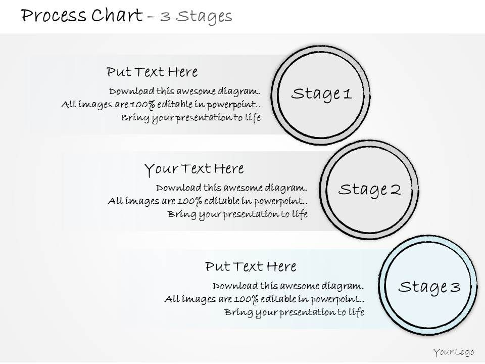 0314 Business Ppt Diagram Three Steps In Marketing Process