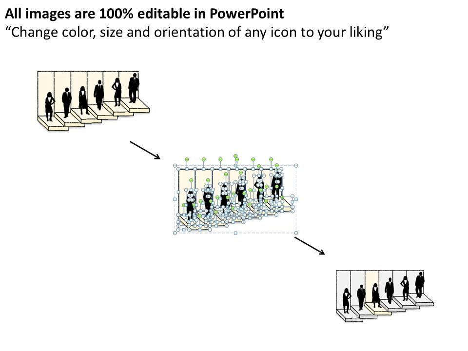 0614 Business Ppt Diagram Illustration Of Corporate Ladder