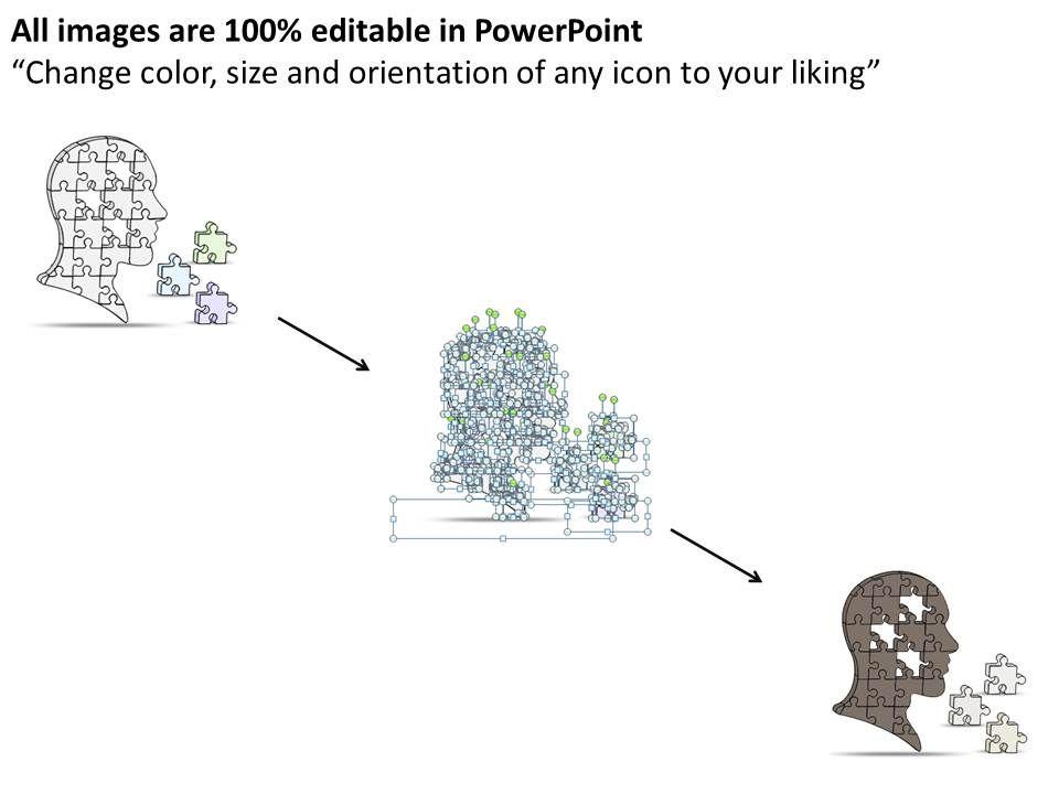 0614 Business Ppt Diagram Put Together Puzzle Pieces