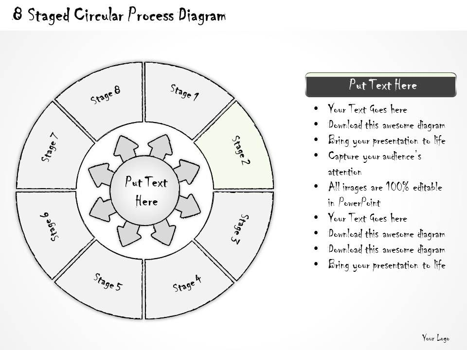 0714 Business Ppt Diagram 8 Staged Circular Process