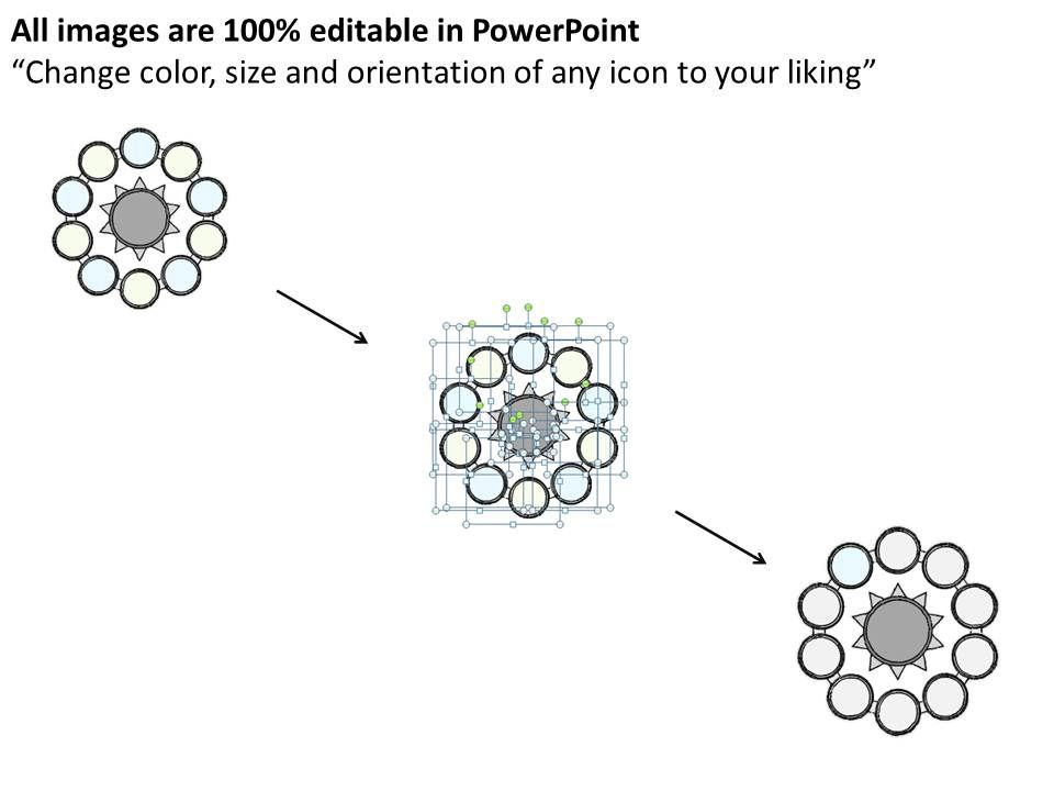 0714 Business Ppt Diagram Multistaged Business Circle