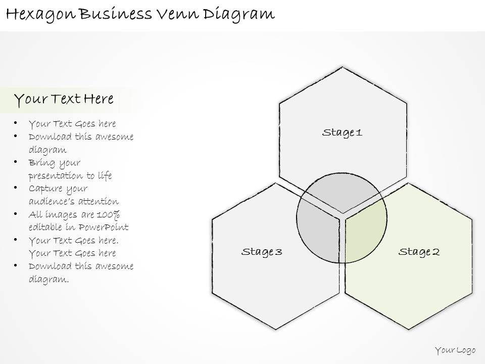 1814 Business Ppt Diagram Hexagon Business Venn Diagram