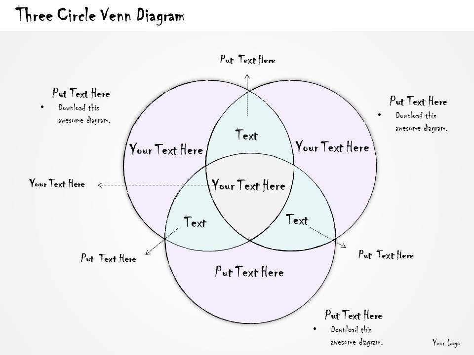1814 Business Ppt Diagram Three Circle Venn Diagram